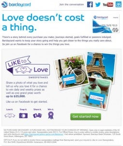 Barclaycard US is offering you Facebook followers the chance to win up to $25,000.