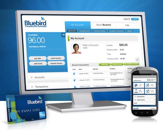 Bluebird Amex card