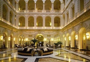 Lobby area at the Boscolo Budapest, Autograph Collection.