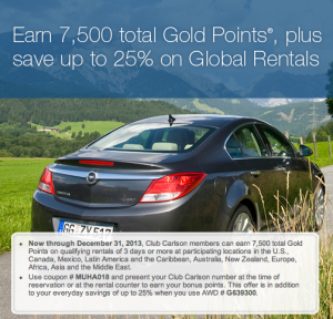 Earn 7,500 Gold Points with Avis.