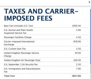 Delta biz fees