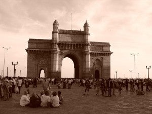 The majestic Gateway of India was built to honor King George V and Queen Mary.