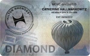 Hilton Diamond status.