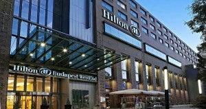 Exterior of the Hilton Budapest WestEnd.