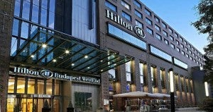 Exterior of the Hilton Budapest WestEnd.