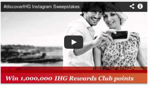 Win up to a million IHG Rewards Club points with Instagram.