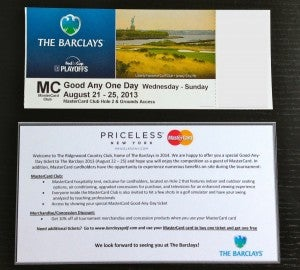 MasterCard Good Any One Day Ticket to the Barclays 2013
