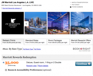 Your spending would be enough for an award night at the JW Marriott LA Live.