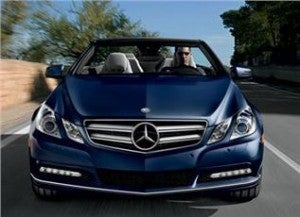 The Hertz Prestige Collection includes the Mercedes Benz E350 Convertible.
