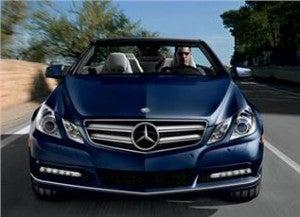The Hertz Prestige Collection includes the Mercedes Benz E350 Convertible.