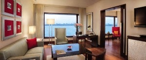 A suite at the Oberoi Mumbai.