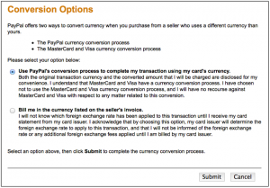 PayPal Conversion Options