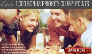 Priority Club Dining