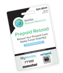 There are many types of reloadable cards- this is the one you want to load into your Bluebird account.