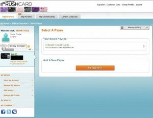 RushCard's Bill Pay feature is easy to use and versatile.