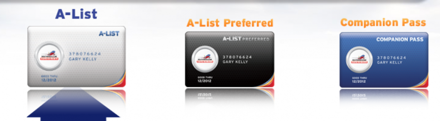 Southwest offers A-List and A-List Preferred Status.