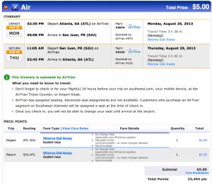 Redeem Rapid Rewards points for AirTran flights.