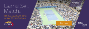 SPG members can take part in the US Open action this year.