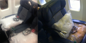 Side by side comparison of Delta's new bedding (left) and old bedding (right)