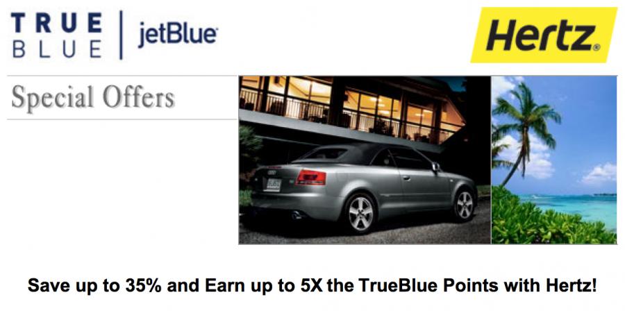 Earn Bonus TrueBlue points through Hertz.