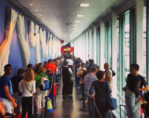 Coming back from Iceland, I was able to avoid these long immigration lines at JFK thanks to Global Entry.