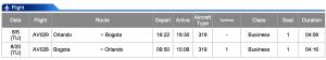 Avianca MCO-BOG Business Class Dec 10- Dec 16