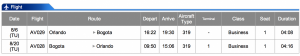 Avianca MCO-BOG Business Class Dec 10- Dec 16