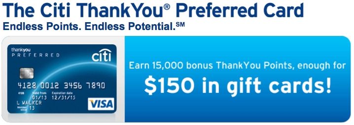 Thank You Preferred Card Offer.
