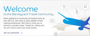 Non-cardholders can join the Barclaycard Travel Community to earn and redeem points.
