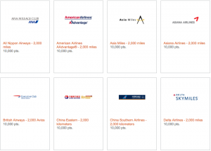 You can transfer your points to American, British Airways and Delta among others.