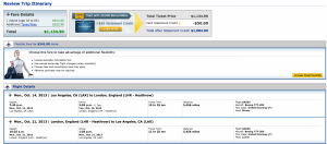 United from Los Angeles to London - expensive, but at least most of it counts towards PSD's.