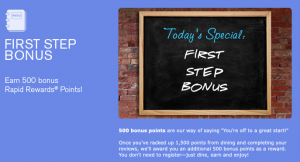 The Southwest First Step Bonus allows you to earn 500 more miles.