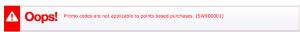 Southwest error message