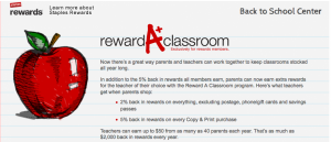 The Staples Reward A Classroom lets you give back to teachers.