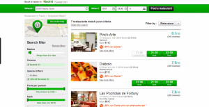 Just in my neighborhood in Madrid there are tons of restaurants on the site.