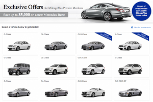Earn up to 25,000 miles when buying a Mercedes E- or CLS-class.