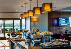 Executive Club Lounge at the Budapest Marriott Hotel.
