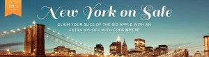 Save an extra 10% off NYC hotels with Jetsetter.