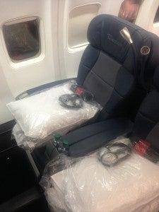 Delta BusinessElite JFK-KEF on 757-200ER.