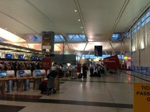 New expanded check-in area at T4.