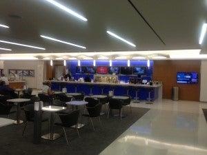 Delta Sky Club bar area.