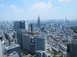 Great views of Tokyo from upin the sky at the Park Hyatt