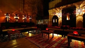 Moroccan Terrace at the Ca Maria Adele