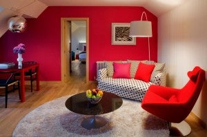 Guest suite at the Hotel Missoni.