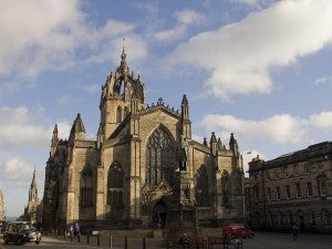 St. Giles Cathedral sits on the heart of the Royal Mile.