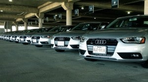 Silvercar only rents Audi A4s.