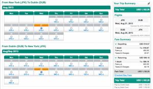 Aer Lingus BOS DUB