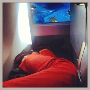 I found Air Berlin's new business class to be a bit cramped for me.