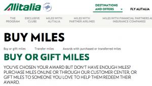 Alitalia Buy Miles promotion