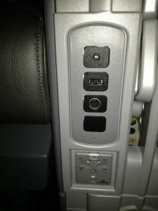 The A319 has USB and power sockets in every seat.